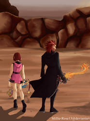 Axel and Kairi KH3 by Millie-Rose13