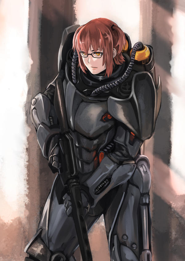 Fallout 4 Anime Characters : Enclave power armor by blazingchaos on deviantart