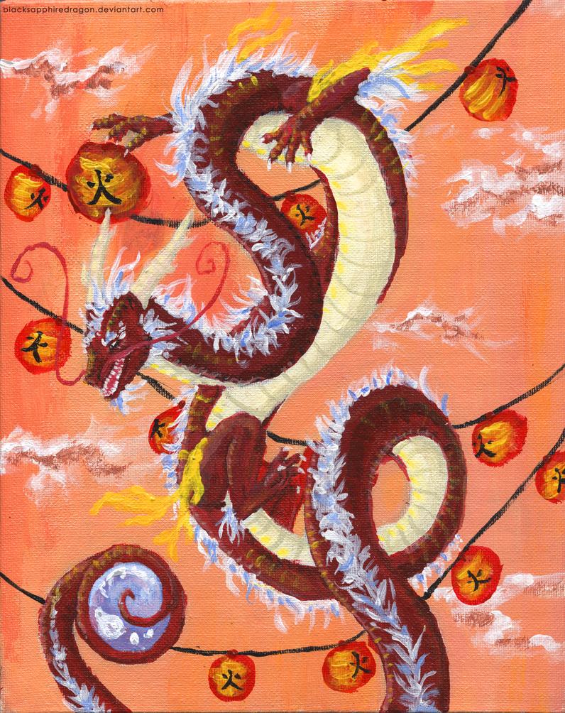 Fire Dragon by blacksapphiredragon