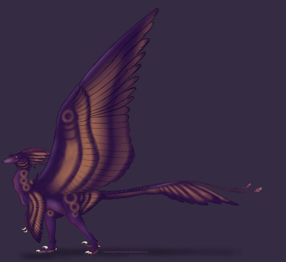 Raptor Dragon by blacksapphiredragon