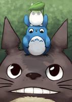Totoro Stack by blacksapphiredragon