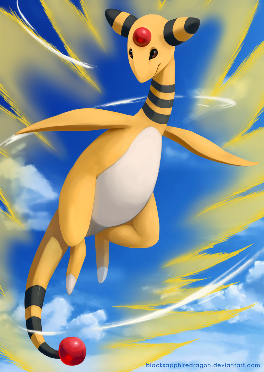 [C] Ampharos by blacksapphiredragon
