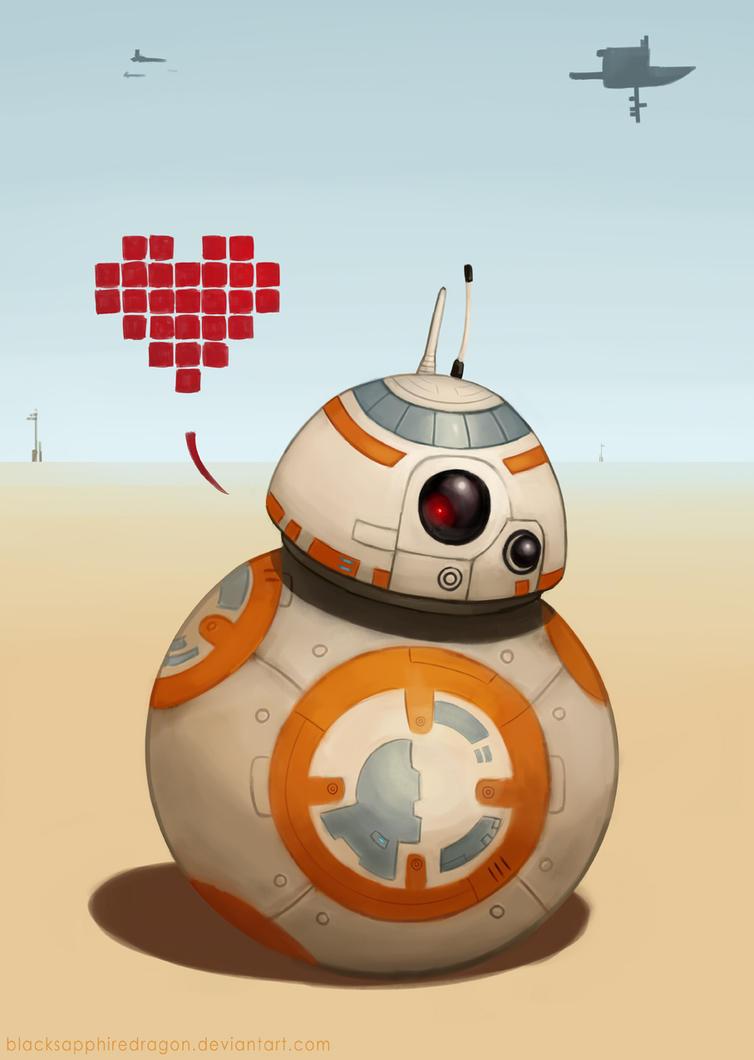 BB-8 Loves You!! by blacksapphiredragon