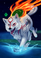 Collab | Amaterasu by blacksapphiredragon
