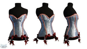Blue Cake Corset Front by Larva
