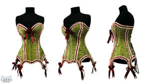 Green Cake Corset Front by Larva