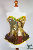 Baroque canvas corset by Eisfluegel