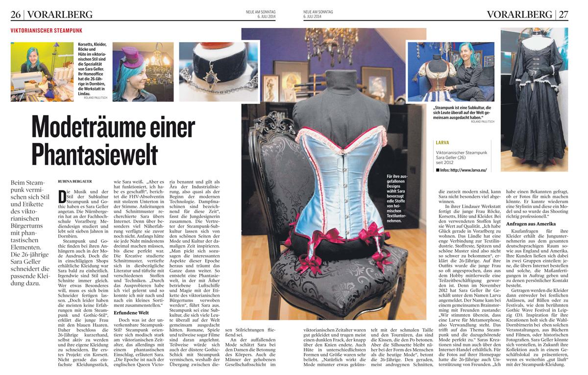 Newspaper Article 'NEUE' by Eisfluegel