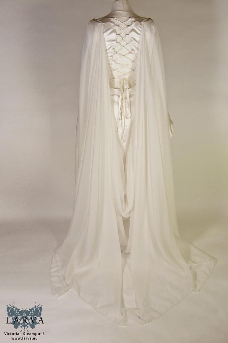 Elven wedding gown back by Eisfluegel
