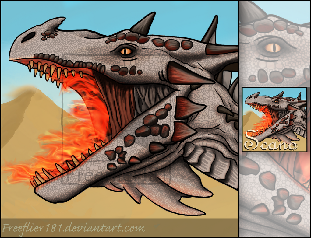 Fire Wyvern Icon for Scanonom -- ARK by Freeflier181