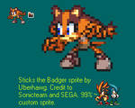 Sticks the Badger Sprite