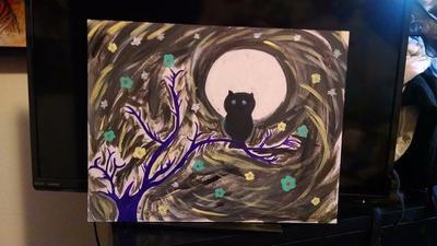 Owl painting  by KlTTEN-KANDY