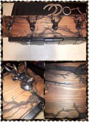 Custom Deer coat/key rack by KlTTEN-KANDY
