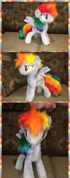 Mlp handmade rainbow dash plush (for sale) by KlTTEN-KANDY