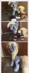 Handmade derpy hooves plush (for sale) by KlTTEN-KANDY