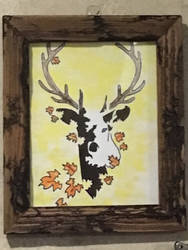 Deer painting by KlTTEN-KANDY