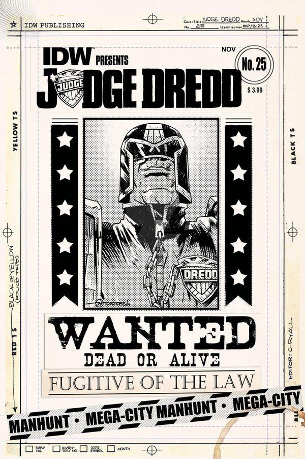 IDW JUDGE DREDD 25 Artist Edition Cover by mytymark