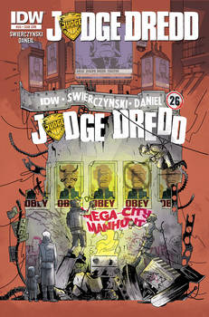 IDW JUDGE DREDD 26 Subscription Cover