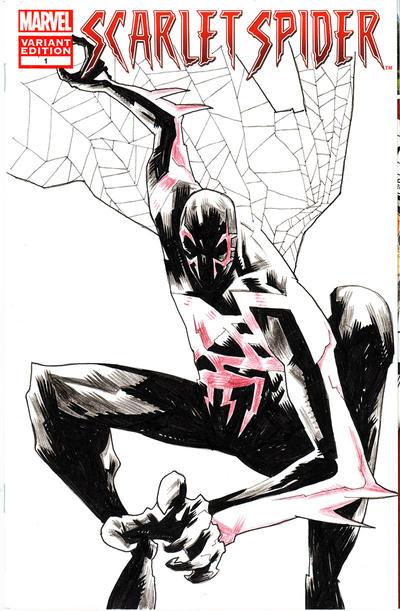 Spidey 2099 Sketch Cover by mytymark