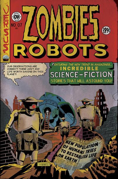 IDW Zombies vs. Robots 7 - EC Tribute variant by mytymark
