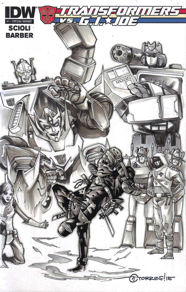 Transformers vs. G.I. Joe (Blank cover) by mytymark