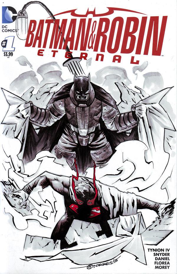BATMAN AND ROBIN: ETERNAL #1 (Blank cover) by mytymark