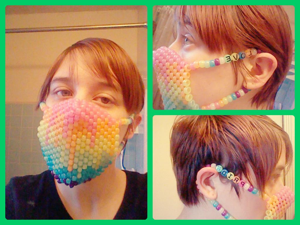 Melting Rainbow Kandi Mask By Yama Shadow Wolf