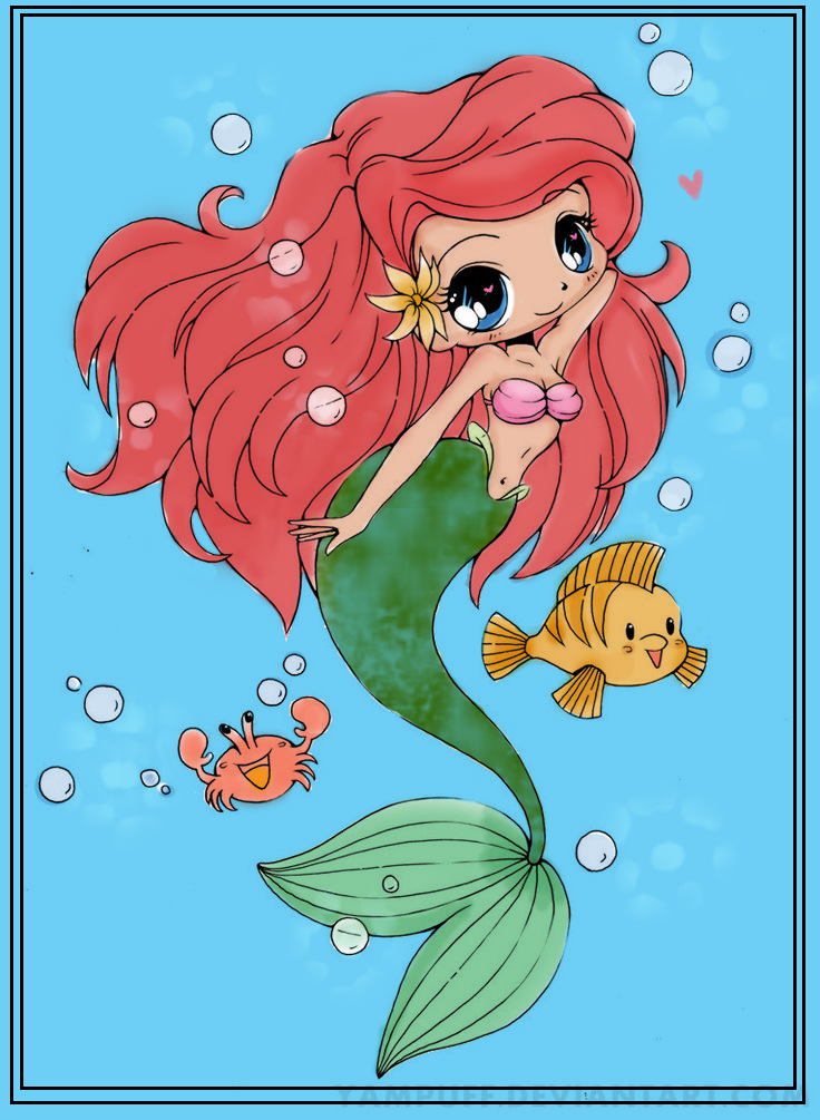 Mermaid N Fish Colored by SakuraBleached19