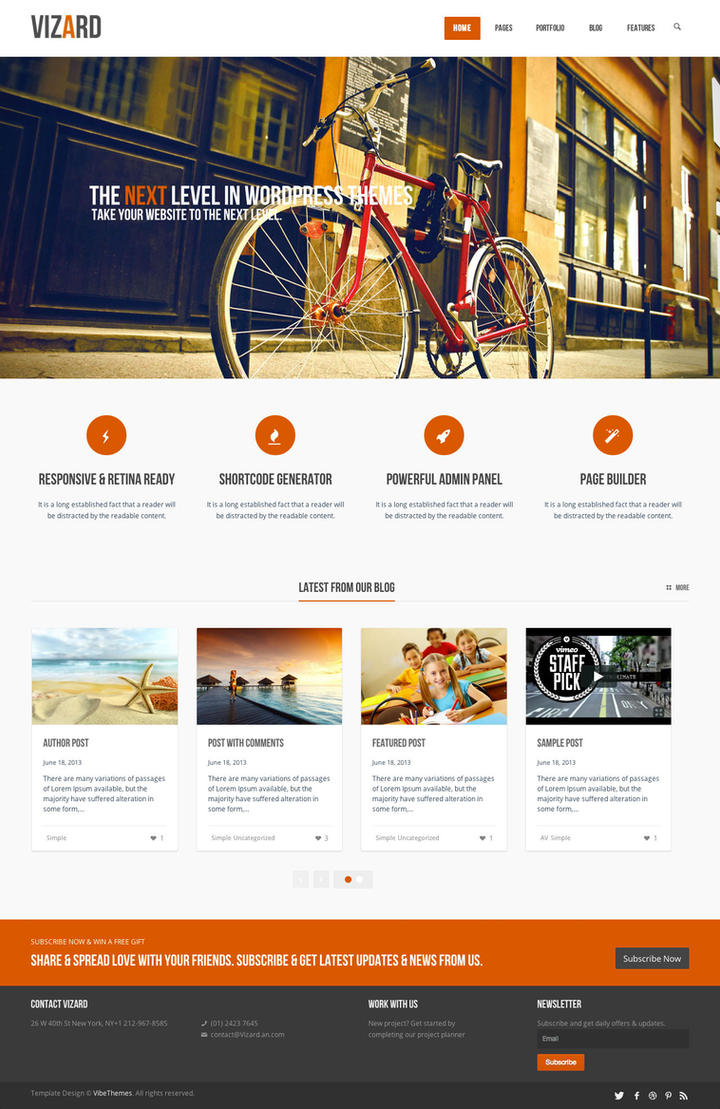 Vizard Modern WordPress by wpthemes
