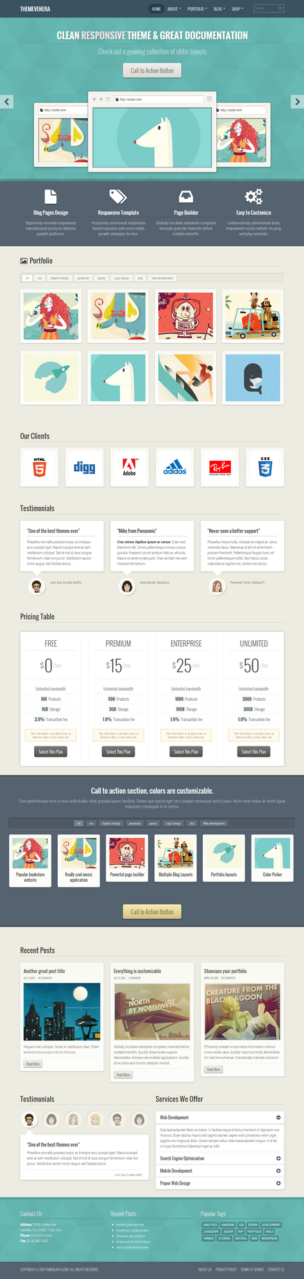 Venera - Responsive Multi-Purpose Theme by wpthemes