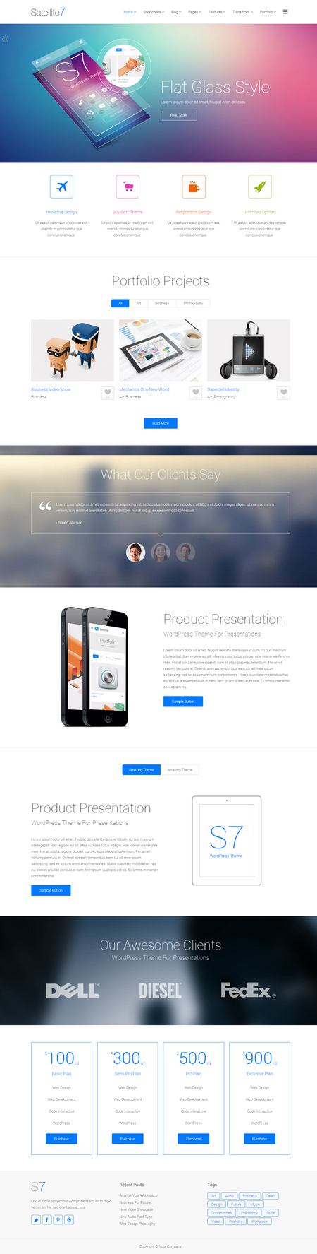 Satellite7 WordPress Theme by wpthemes