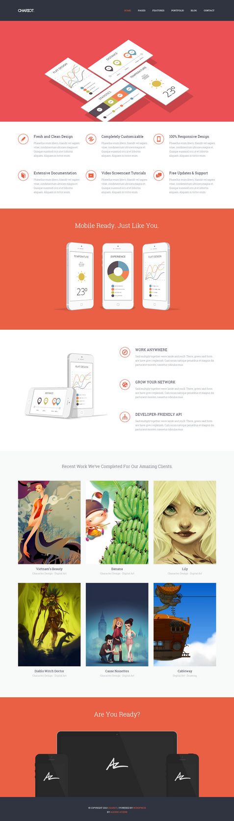 Chariot WordPress Portfolio by wpthemes