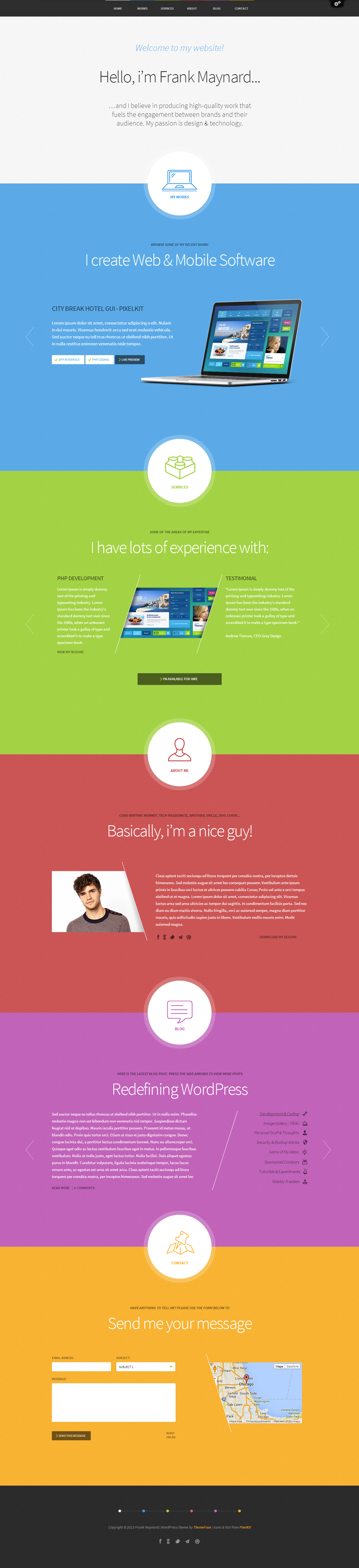 Freelancer Website Template by wpthemes