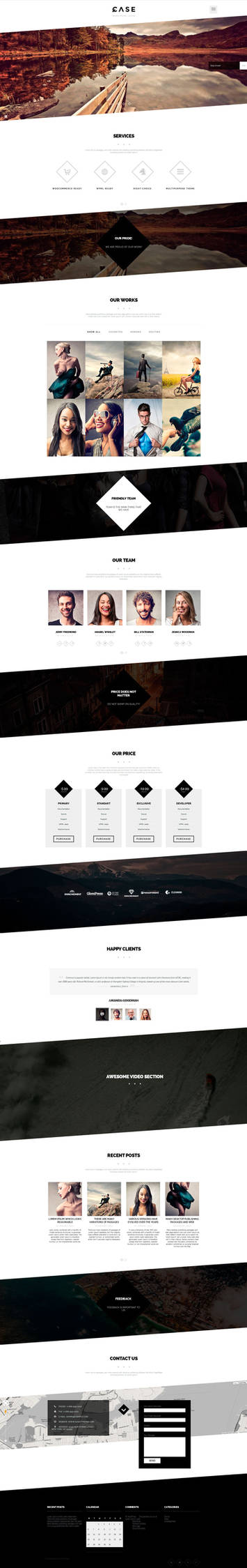 Case - One-page WP Theme