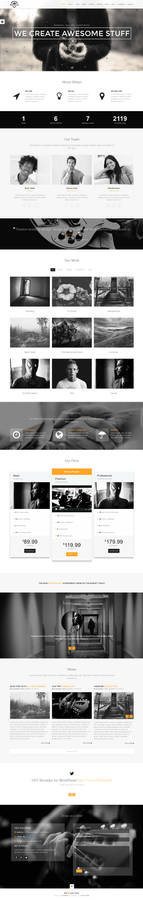 Brooklyn Onepage - with rainy effect