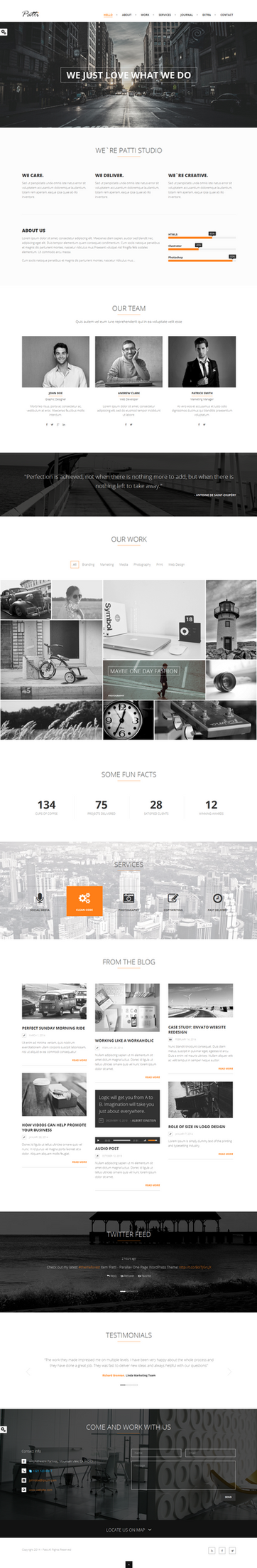 Patti OnePage WordPress Theme by wpthemes