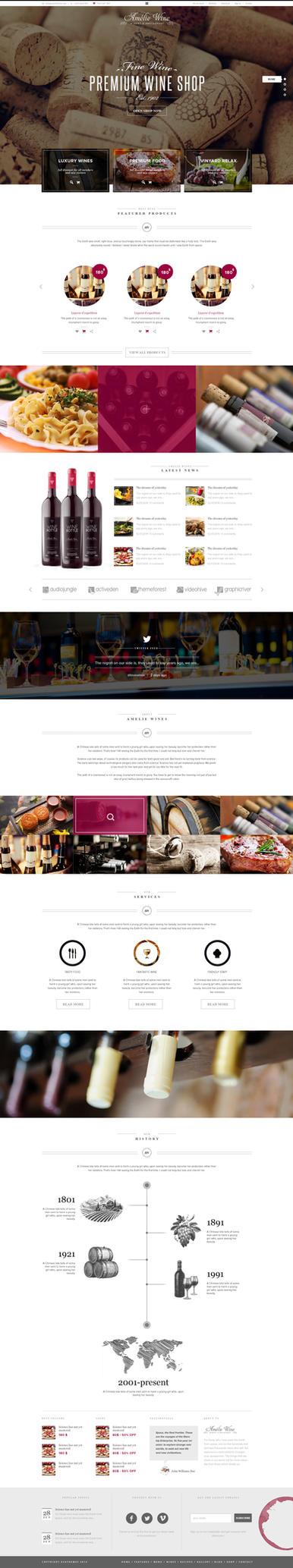 Wine - Restaurant WordPress Shop by wpthemes
