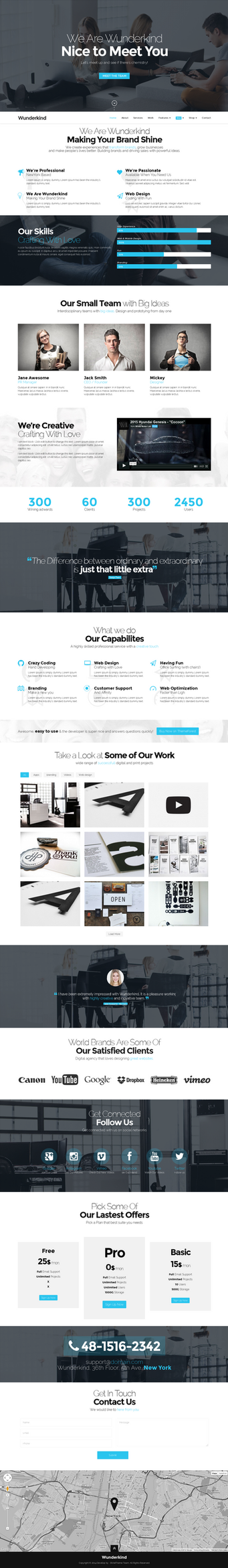 Wunderkind - One Page Parallax WordPress Theme by wpthemes