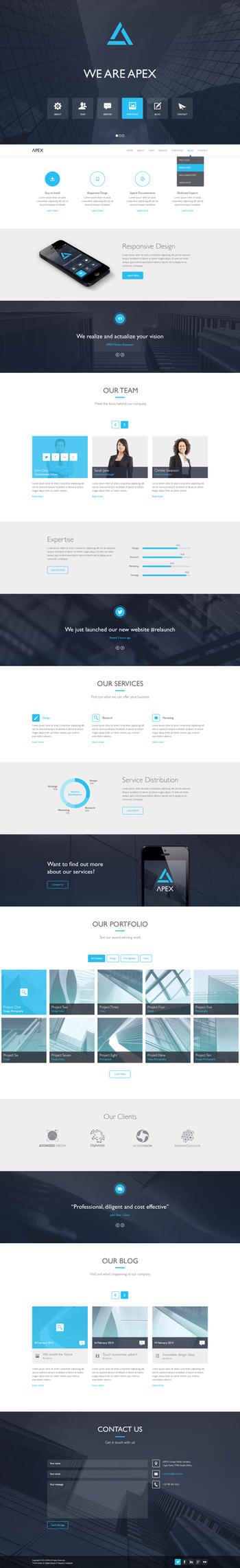 Apex Responsive WordPress Theme by wpthemes