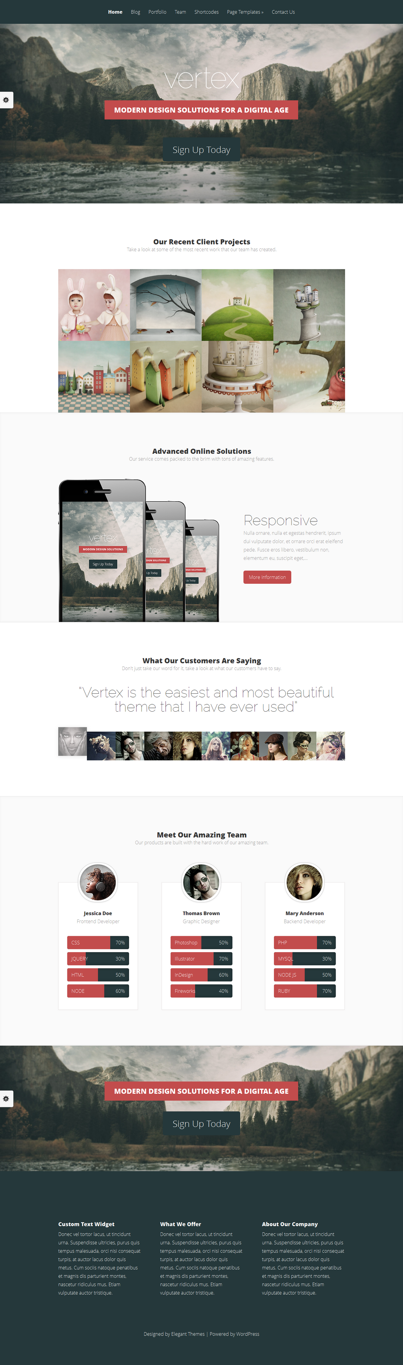 Vertex WordPress Template by wpthemes