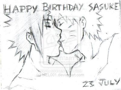 happy birthday sasuke by GrupoKatsu