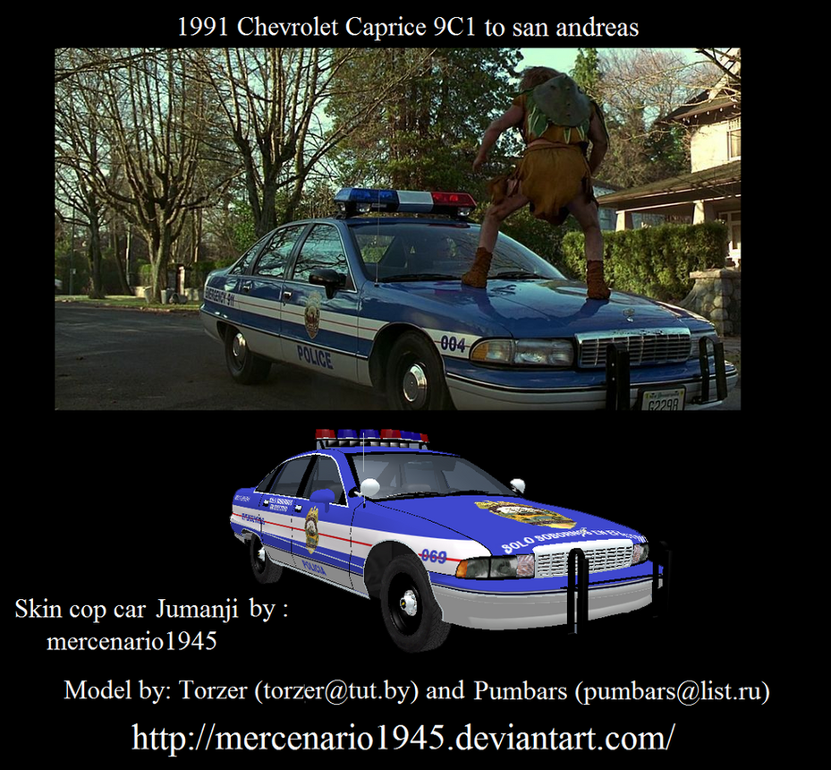 GTA San Andreas Jumanji 1991 Chevrolet Caprice 9C1