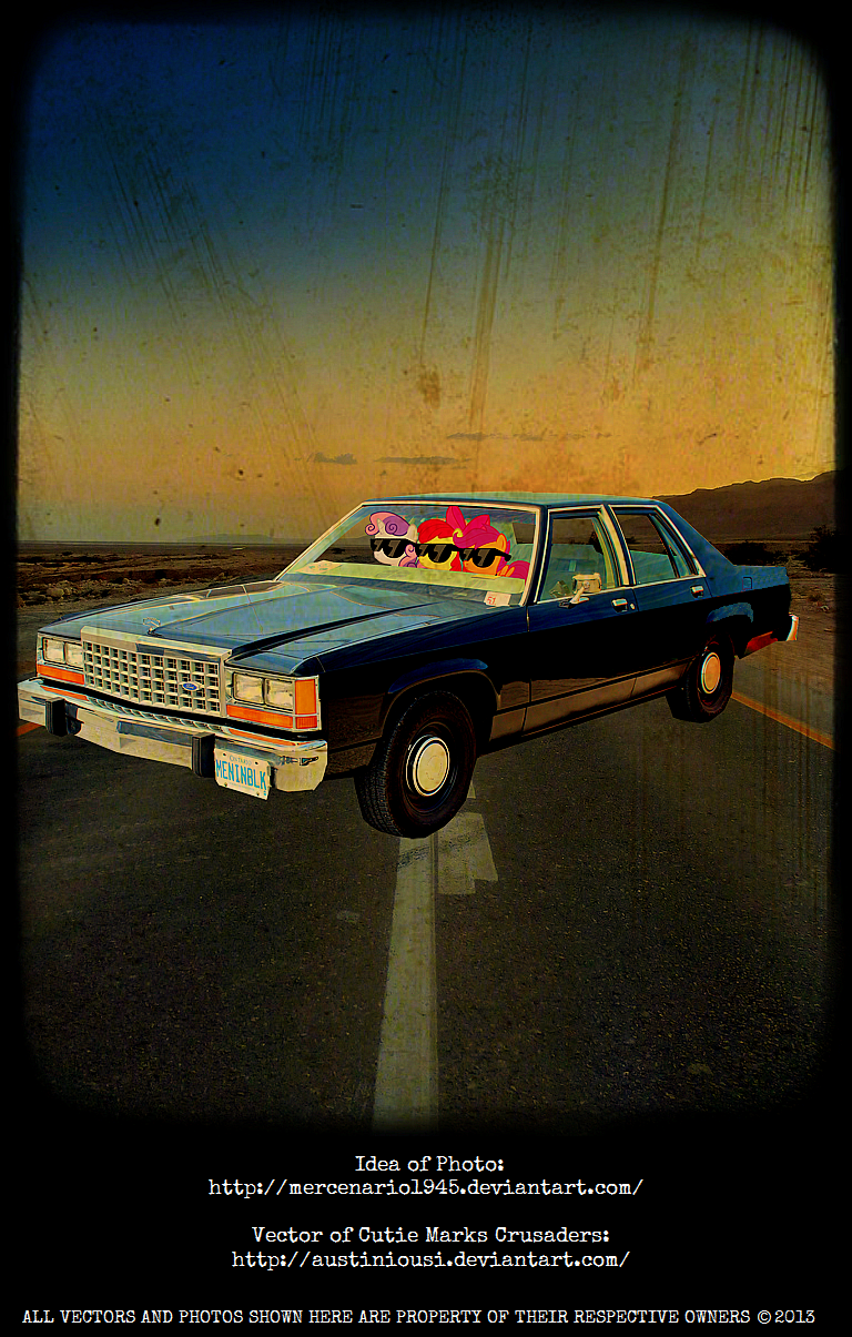 MIB: Mares In Black Ford LTD Crown Victoria 1985 by mercenario1945