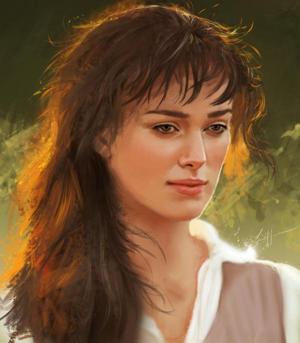 Keira Knightley portrait study by LiLumina