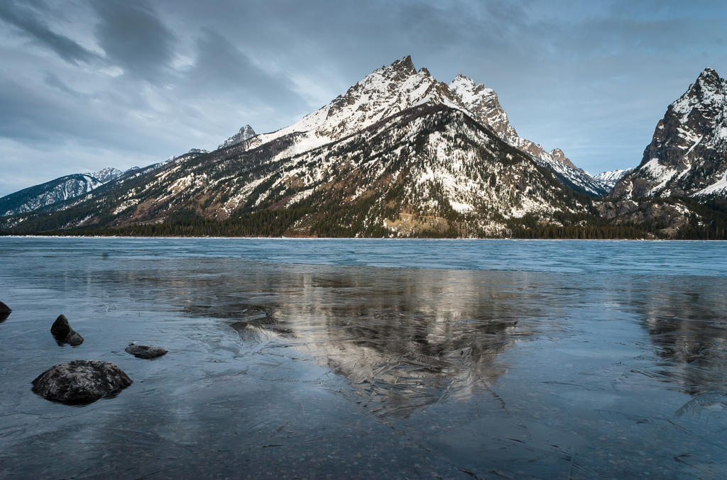 Jenny Lake, Frozen by TomGreenPhotos