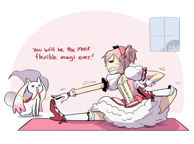 Madoka Bow And Arrow Pose By Montiray