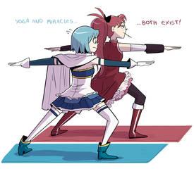 Sayaka and Kyouko by montiray