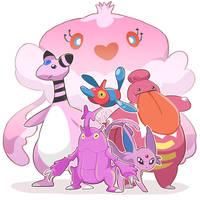 My Pink Pokemon Team