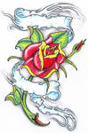 Rose with banner