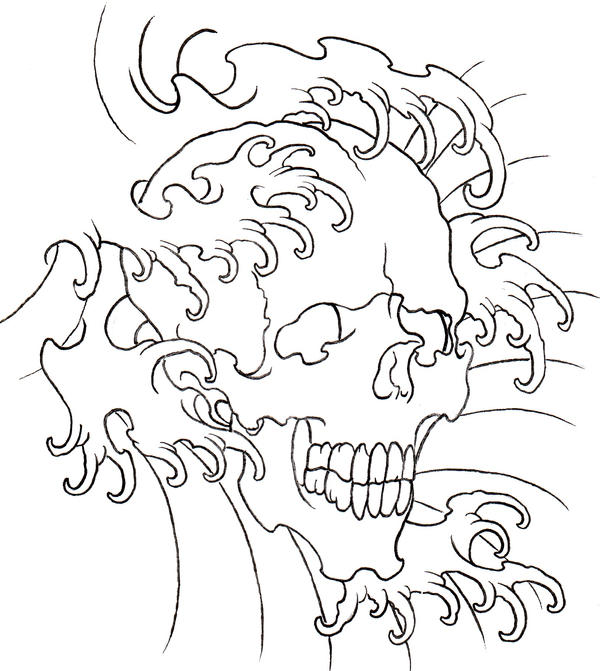 Easy Skulls Tattoos Outlines